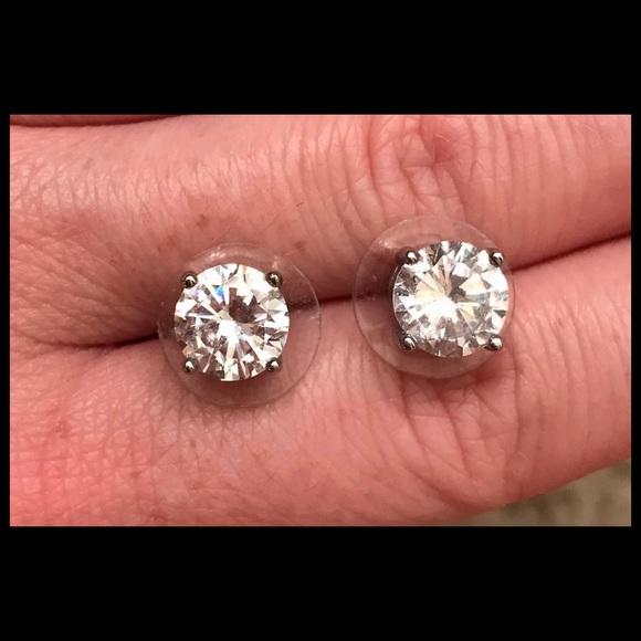 58e629721 Jewelry | 2 Carat Sparkling Cubic Zirconia Stud Earrings | Poshmark